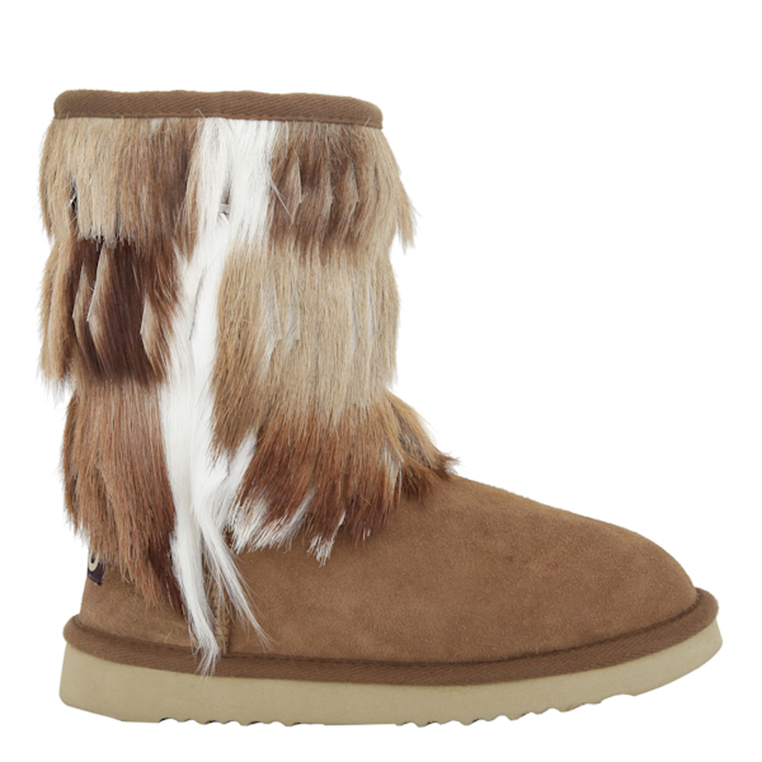Mou Antelope Fringed Cowboy Boot Chestnut With Sprinbok Fringes £305