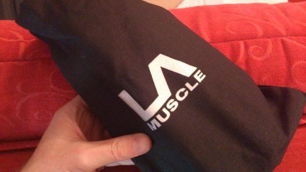 LA Muscle Workout recovery Active Gel review LA Muscle black bag- Adventure 52 magazine
