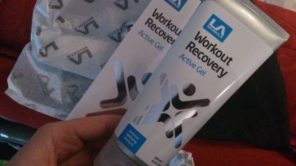 LA Muscle Workout recovery Active Gel review LA Muscle tube - Adventure 52 magazine