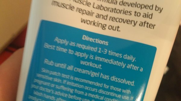 LA Muscle Workout recovery Active Gel review LA Muscle ingrediants- Adventure 52 magazine