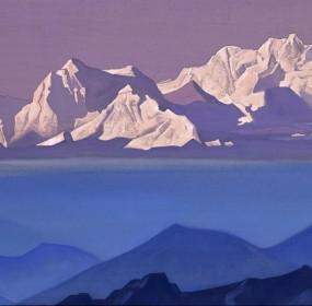 Kanchenjunga painting - Adventure 52 magazine