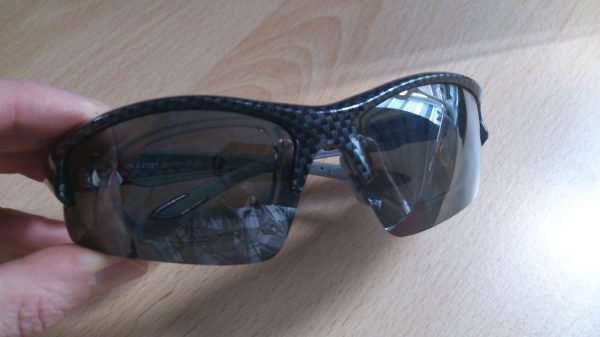 Carbon fibre effect Dunlop sunglasses - Adventure 52 magazine