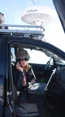 Expedition Manager in comms truck..