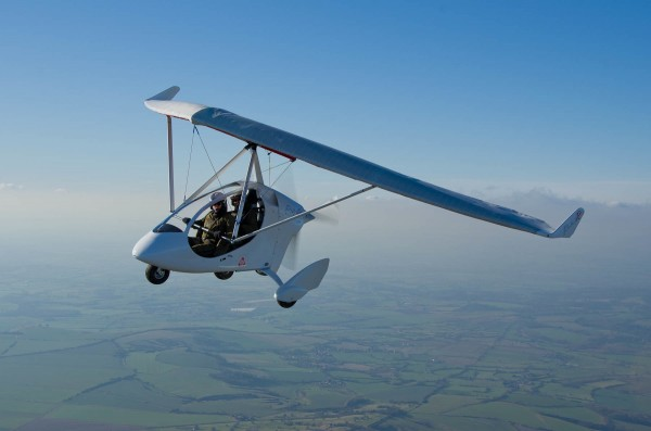 PulsR microlight review airborne shot