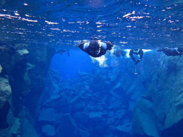 Snorkelling in Silfra