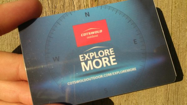 Cotswold Outdoor Explore card