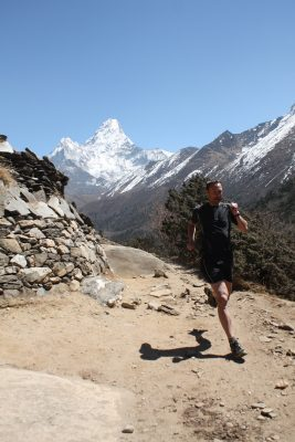Luke running the Everest Ultra – Adventure 52