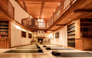 chalet rosiere yoga room
