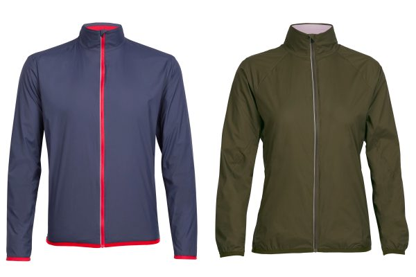 Mens Incline and Womens Rush windbreakers